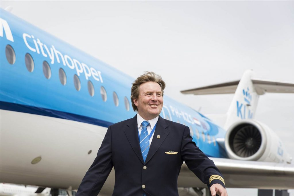 King Willem-Alexander - moonlighting with KLM.
