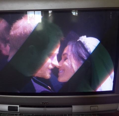 The Kiss. (I told you it wasn't a posh telly...)