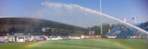 Rainbow at Glasgow National Hockey Stadium